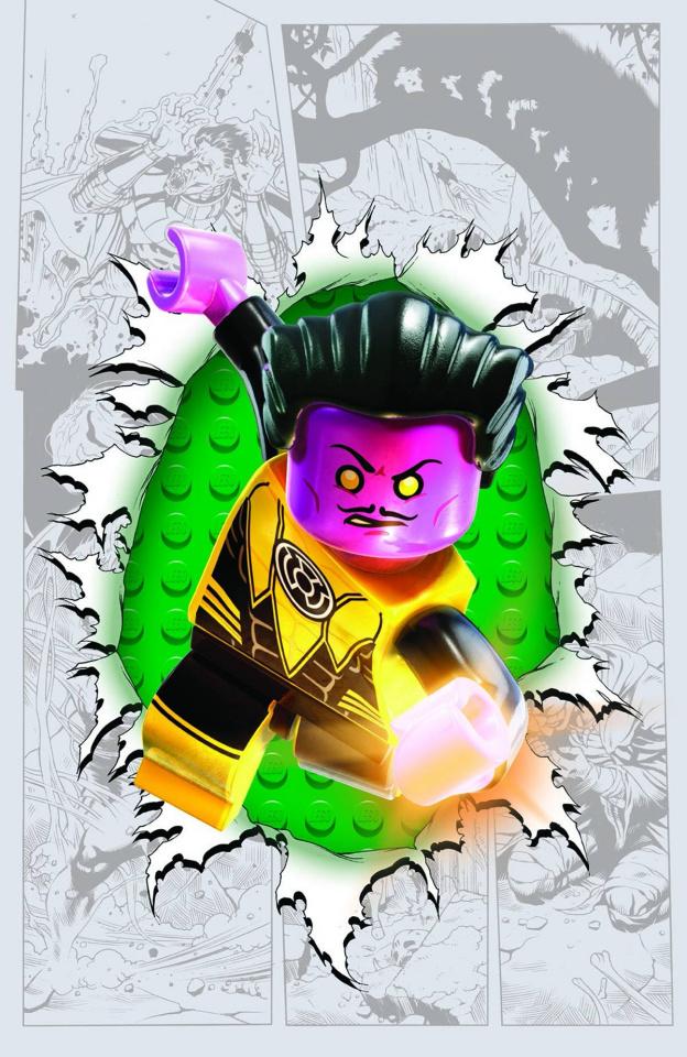 Sinestro #7 (Lego Cover)