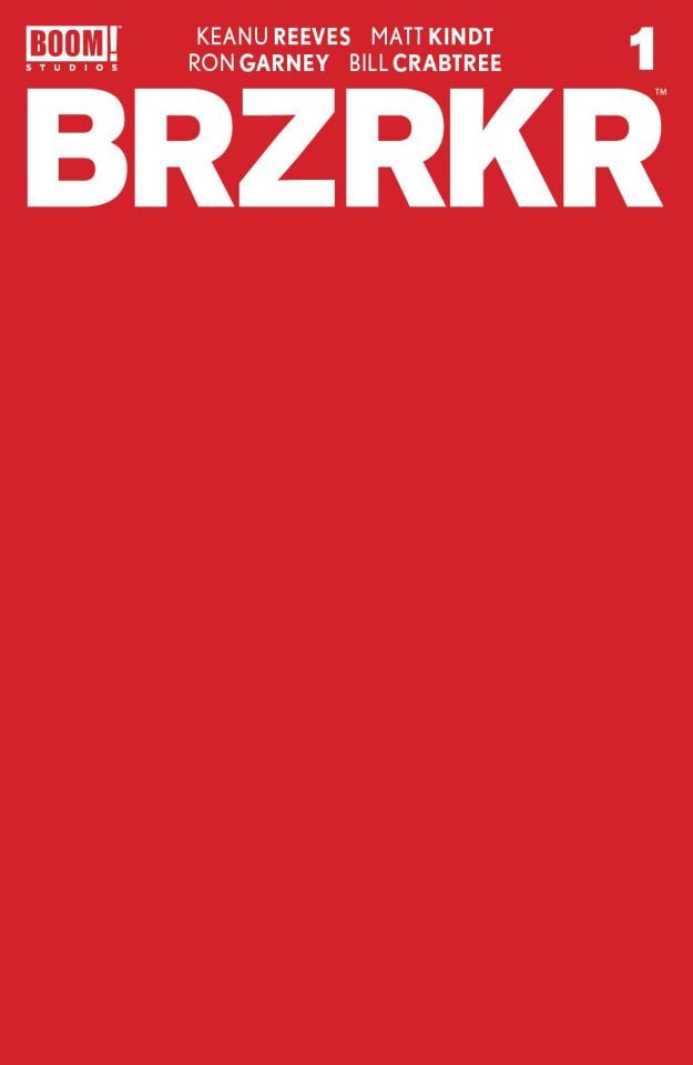 BRZRKR #1 (10 Copy Red Blank Sketch Cover)