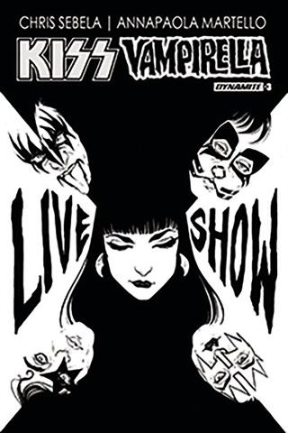 KISS / Vampirella #3 (10 Copy Ihde B&W Cover)