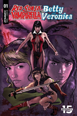Red Sonja and Vampirella Meet Betty and Veronica #1 (Cat Staggs Cover)