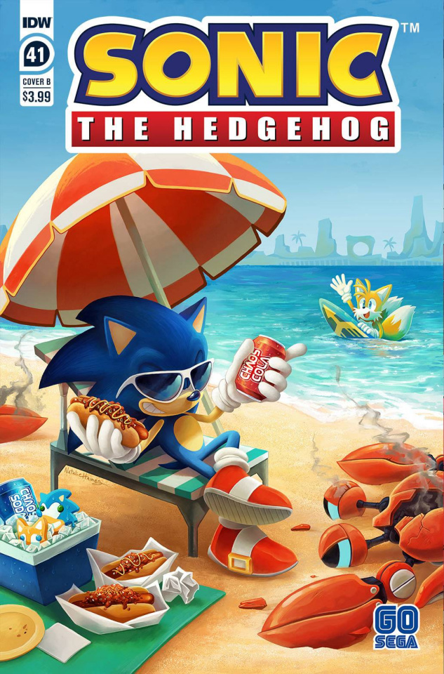 Sonic the Hedgehog #41 (Natalie Haines Cover)