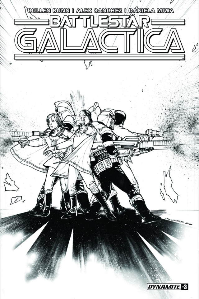 Battlestar Galactica #4 (10 Copy B&W Cover)