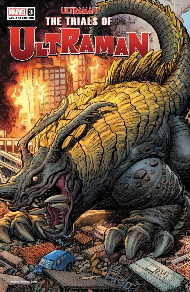 The Trials of Ultraman #3 (Art Adams Kaiju Cover)