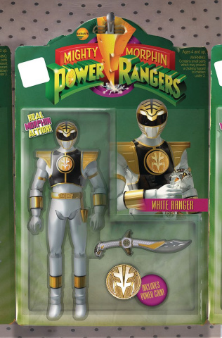 Mighty Morphin' Power Rangers #7 (Unlock Action Figure Cover)