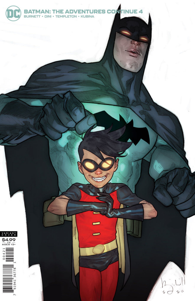 Batman: The Adventures Continue #4 (Ben Caldwell Card Stock Cover)