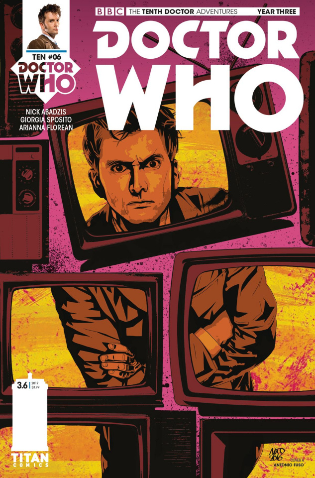 Doctor Who: New Adventures with the Tenth Doctor, Year Three #6 (Fuso Cover)