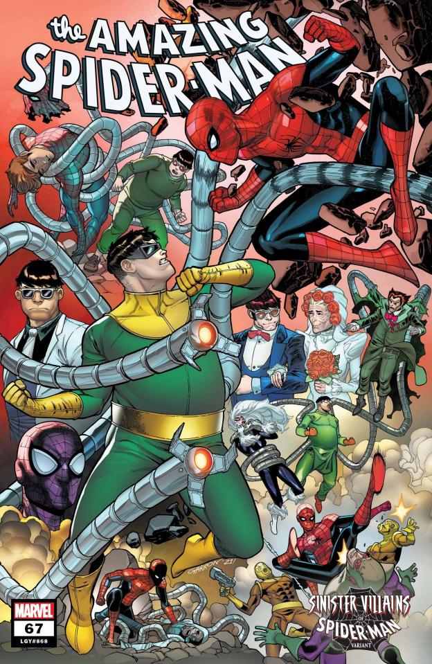 The Amazing Spider-Man #67 (Garron Spider-Man Villains Cover)