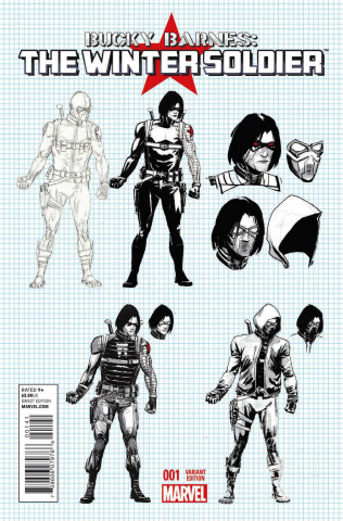 Bucky Barnes: The Winter Soldier #1 (Rudy Design Cover)