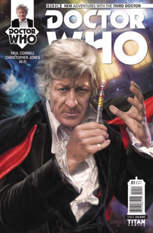 Doctor Who: New Adventures with the Third Doctor #1 (Burns Cover)