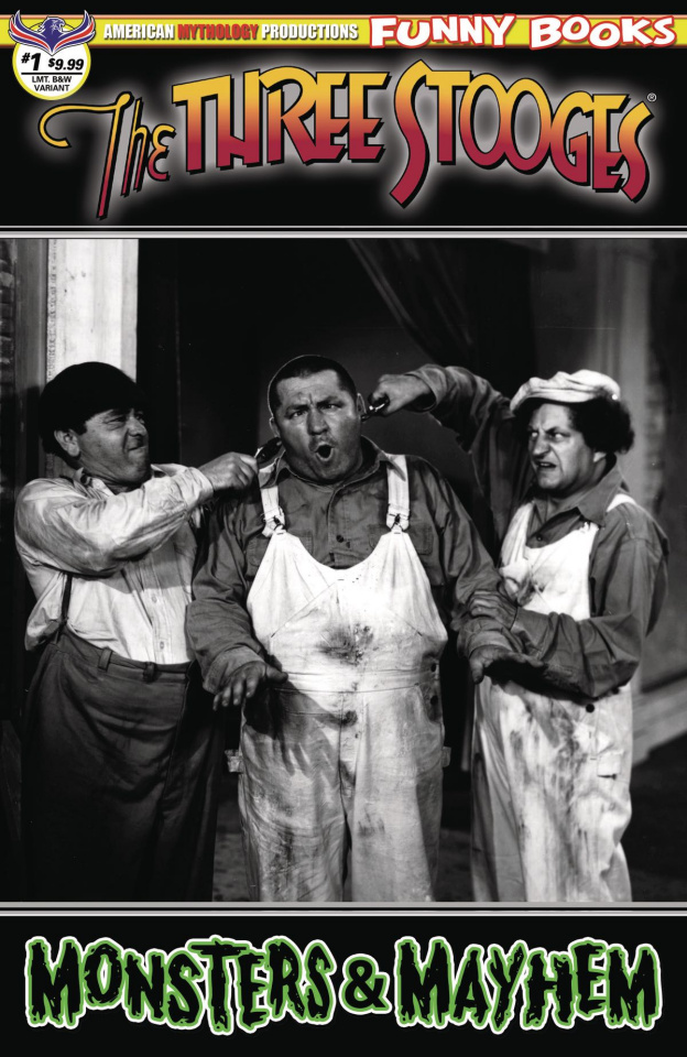 The Three Stooges: Monsters & Mayhem #1 (B&W Photo Cover)