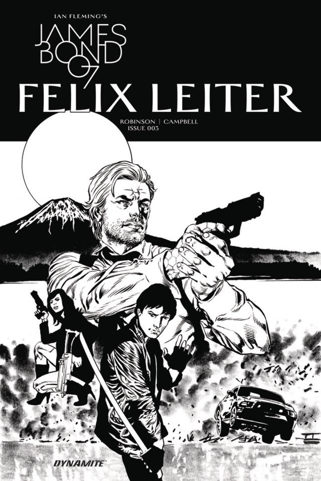 James Bond: Felix Leiter #3 (10 Copy B&W Cover)