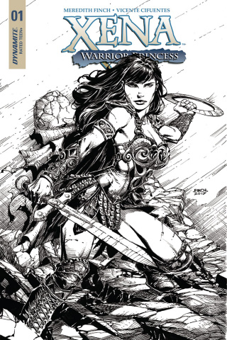 Xena #1 (25 Copy Finch B&W Cover)