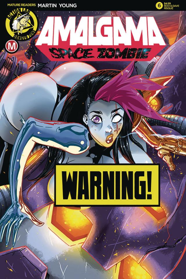Amalgama: Space Zombie #6 (Rudetoons Reynolds Risque Cover)