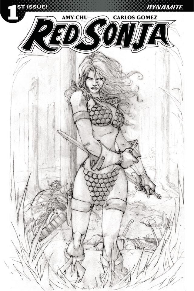Red Sonja #1 (20 Copy Camuncoli B&W Cover)