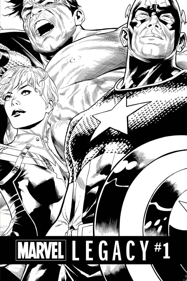 Marvel Legacy #1 (Quesada B/W Cover)