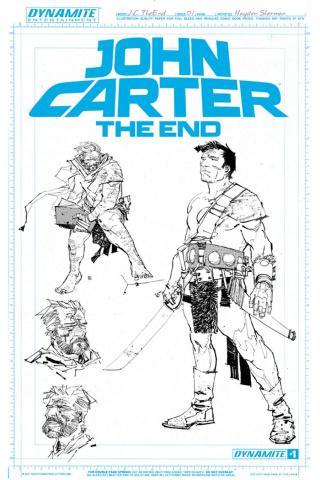 John Carter: The End #1 (Unique Artboard Cover)