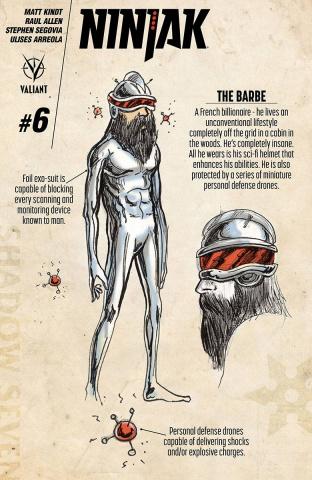 Ninjak #6 (10 Copy Character Design Kindt Cover)