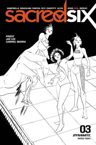 Sacred Six #3 (30 Copy Lee B&W Cover)