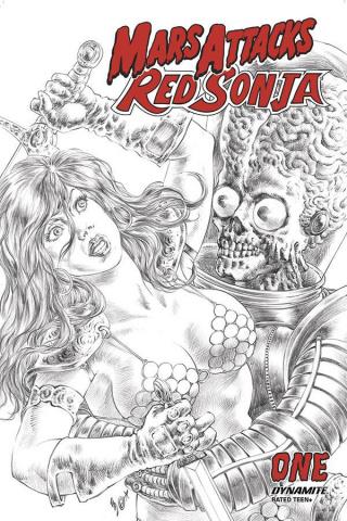 Mars Attacks / Red Sonja #1 (11 Copy Quah B&W Cover)
