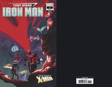Tony Stark: Iron Man #7 (Uncanny X-Men Cover)