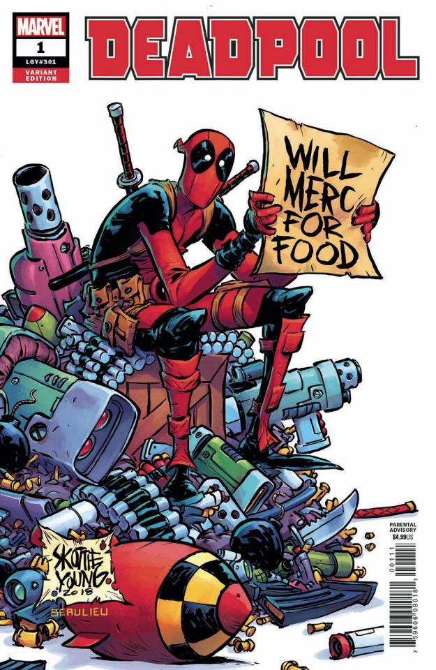 Deadpool #1 (Skottie Young Cover)