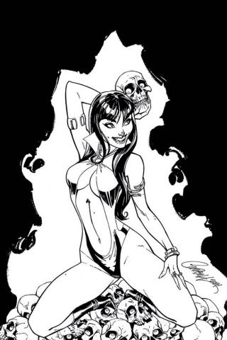 Vampirella #3 (21 Copy Campbell B&W Virgin Cover)