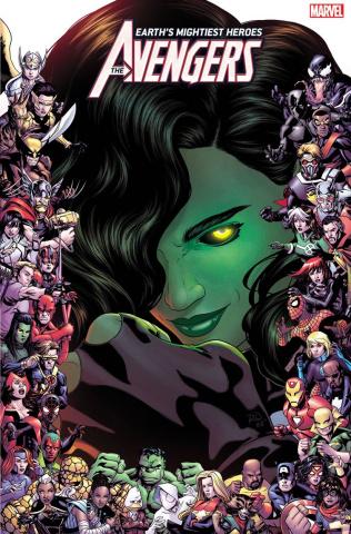 Avengers #23 (Dauterman Marvel 80th Anniversary Frame Cover)