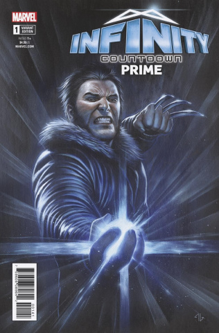 Infinity Countdown: Prime #1 (Logan Holds Infinity Gem Cover)