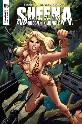 Sheena #5 (Sanapo Cover)