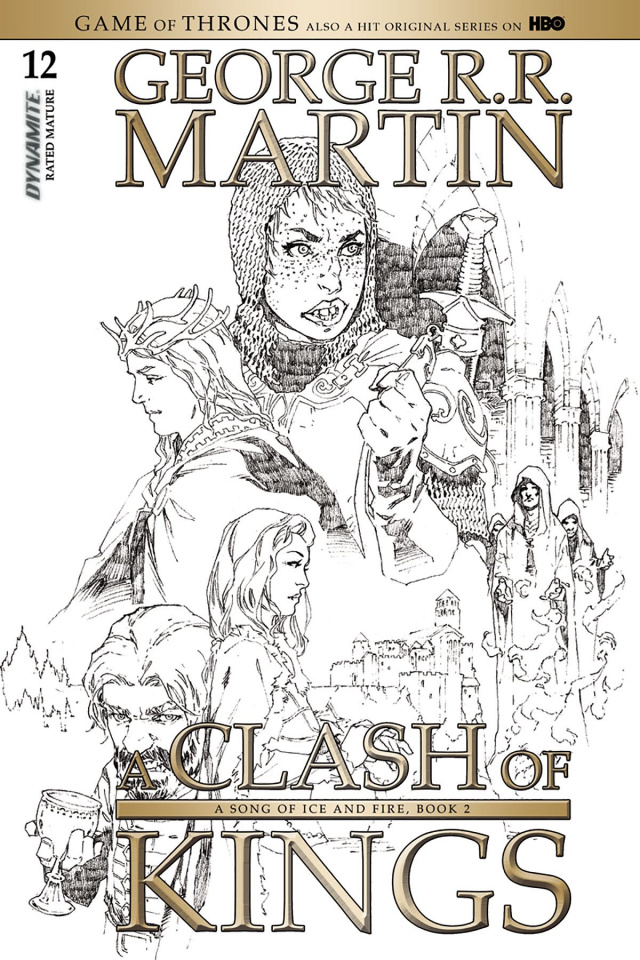 A Game of Thrones: A Clash of Kings #12 (15 Copy Rubi B&W Cover)