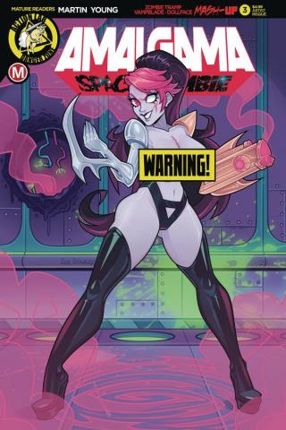 Amalgama: Space Zombie #3 (Stanley Risque Cover)