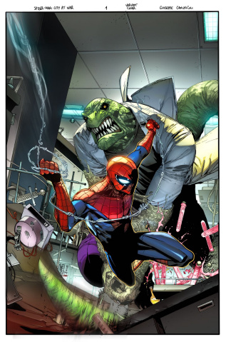 Spider-Man: City At War #1 (Spider-Man Villains Cover)
