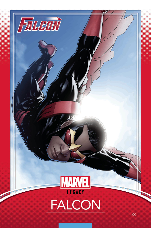 The Falcon #1 (Christopher Trading Card Cover)