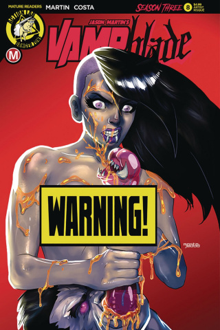 Vampblade, Season Three #8 (Mastajwood Risque Cover)