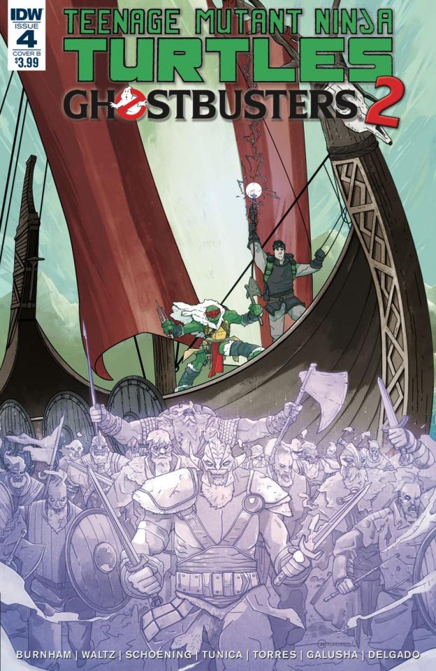Teenage Mutant Ninja Turtles / Ghostbusters 2 #4 (Torres Cover)
