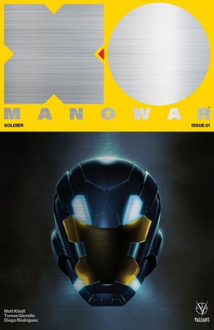 X-O Manowar #1 (500 Brushed Metal Variant Cover)