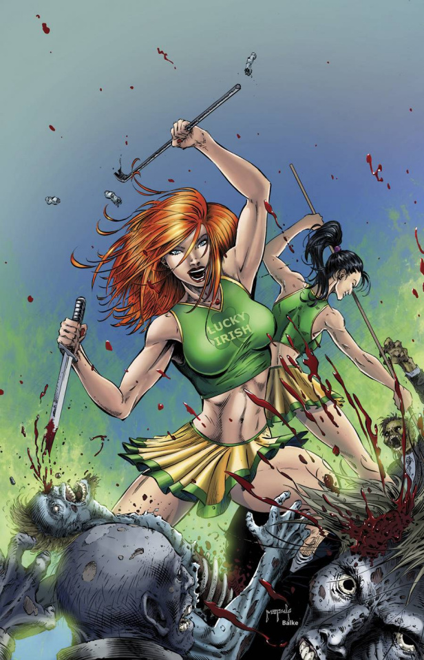 Zombies vs. Cheerleaders: 2015 St. Patty's Day #1 (Metcalf Cover)
