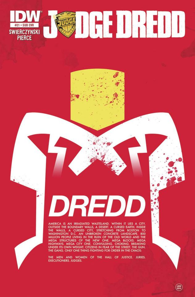 Judge Dredd #21 (Subscription Cover)