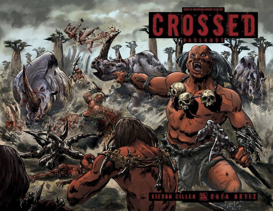 Crossed: Badlands #76 (Megafauna Mayhem Cover)