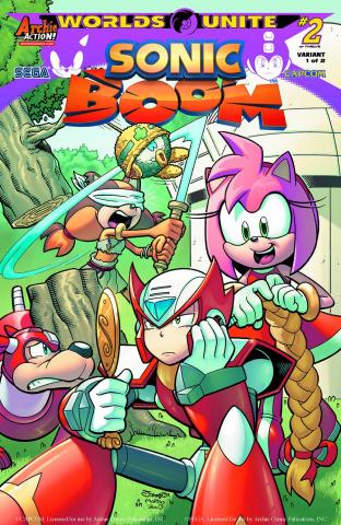 Sonic Boom #8 (Jampole Happy Fun Time Cover)