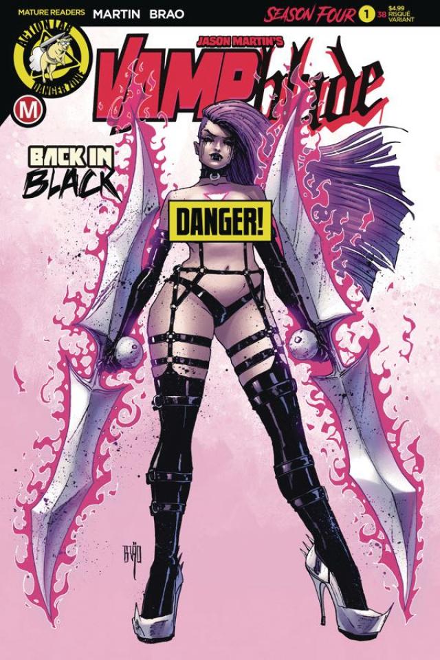 Vampblade, Season Four #1 (Brao Risque Cover)