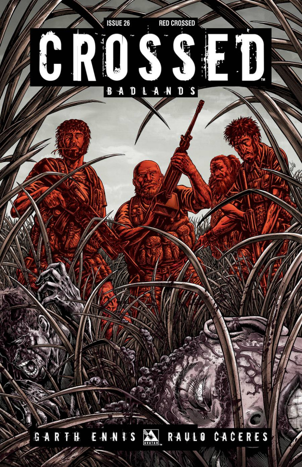 Crossed: Badlands #26 (Red Crossed Cover)
