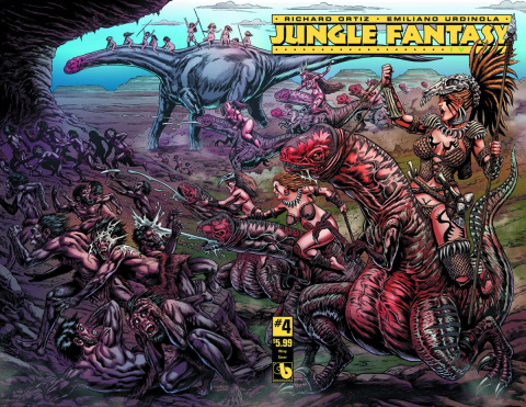 Jungle Fantasy: Ivory #4 (Wrap Cover)