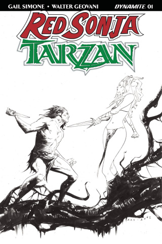 Red Sonja / Tarzan #1 (40 Copy Lee B&W Cover)