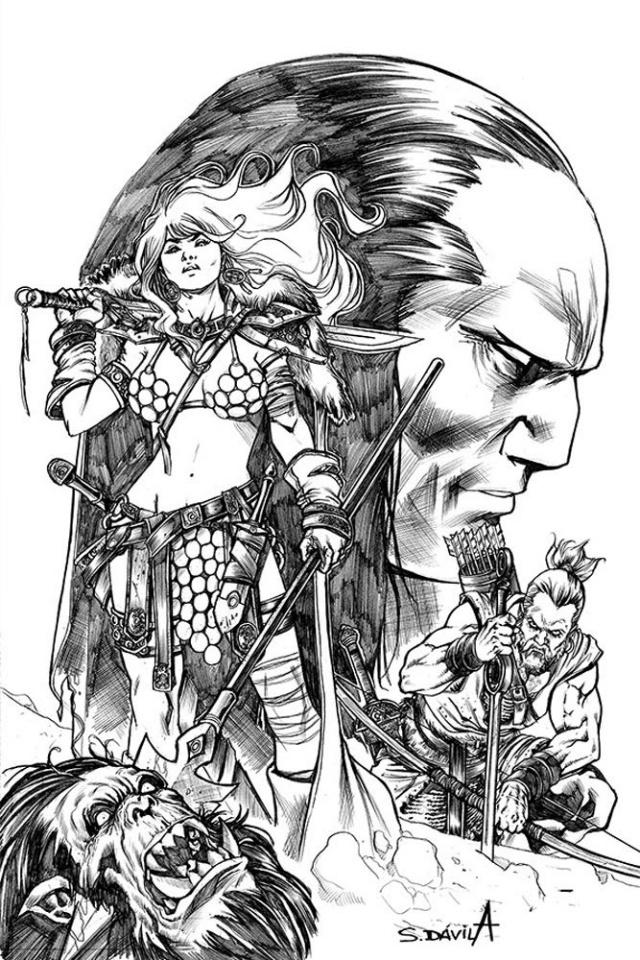 Red Sonja: Birth of the She-Devil #4 (11 Copy Davila B&W Virgin Cover)