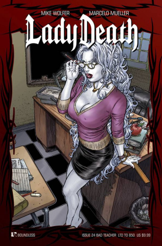 Lady Death #24 (Bad Teacher Cover)