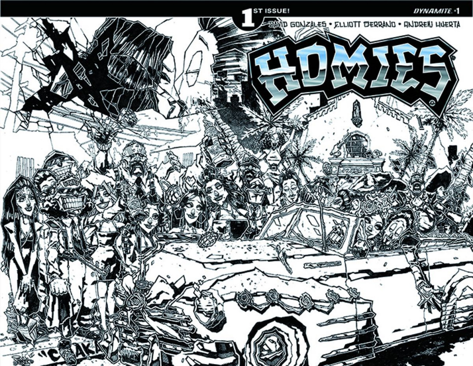 Homies #1 (15 Copy Huerta B&W Cover)