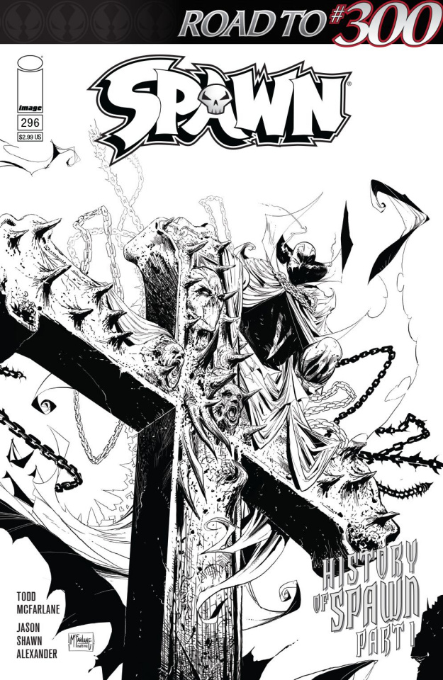 Spawn #296 (B&W McFarlane & Mattina Cover)