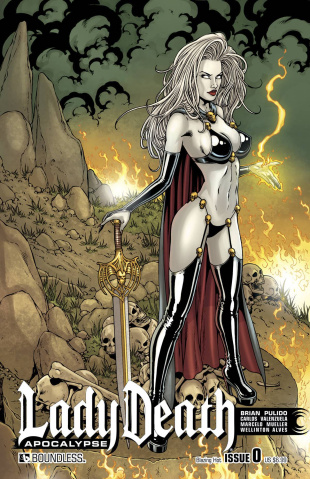 Lady Death: Apocalypse #0 (Blazing Hot Cover)