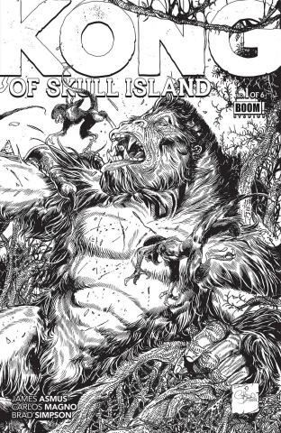 Kong of Skull Island #1 (FOC Coloring Cover)